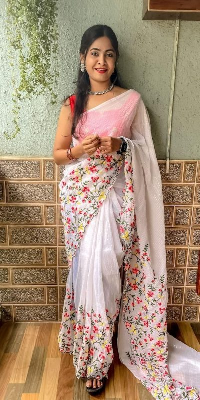 womens-pretty-white-color-sequence-with-embroidery-work-saree