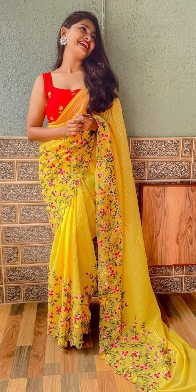 womens-pretty-yellow-color-sequence-with-embroidery-work-saree
