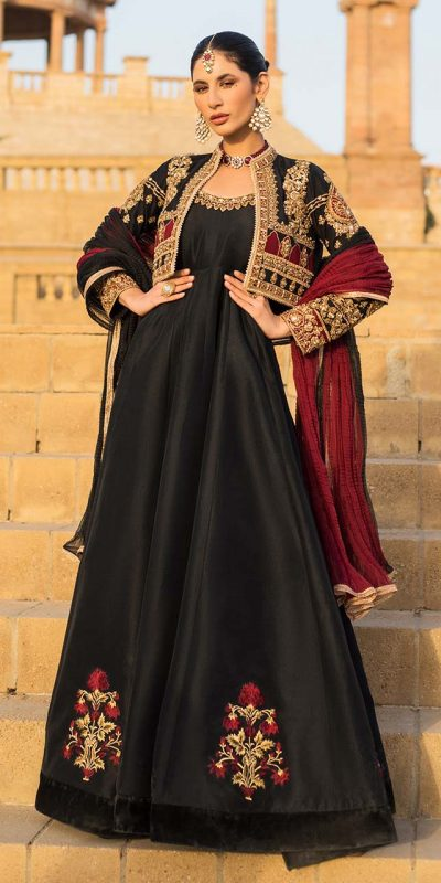 dazzling-black-color-heavy-embroidery-jacket-style-anarkali-suit