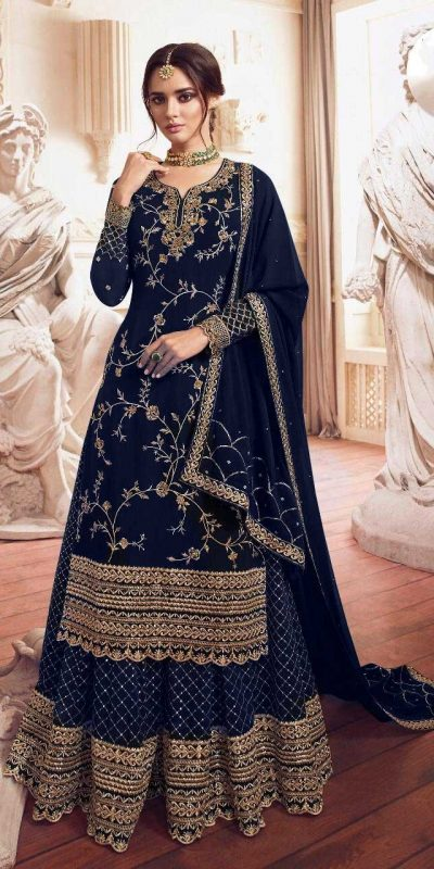 womens-look-stunning-with-designer-blue-color-bridal-sharara-suit