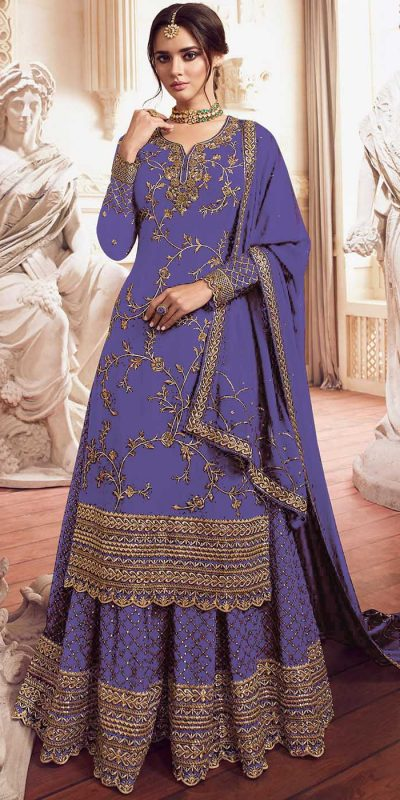 womens-look-stunning-with-designer-violet-color-bridal-sharara-suit